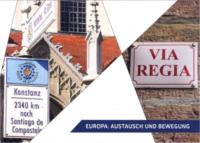 Bildcollage von der Via Regia schilder
