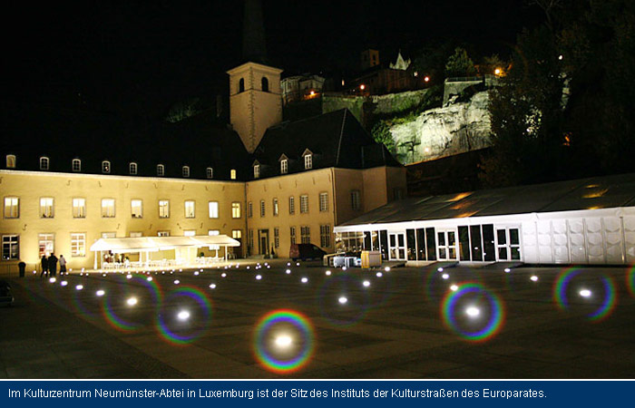 In the Cultural Centre Abbaye Neumünster in Luxembourg is the seat of the European Institute for Cultural Routes of the Council of Europe.