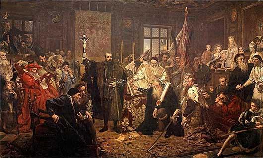 """""""Lubliner Union"""" Gemälde von Jan Matejko aus dem Jahre 1869."""