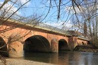 Brücke: Nied Grenz- und Zollstation für Händler aus Bergen kommend über Oeserstraße und aus Frankfurt kommend über Galluswarte