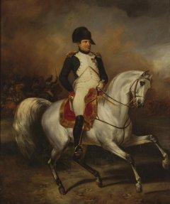 Napoleon zu Pferde, Gemälde von Simon Meister (1832)