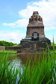 Das Völkerschlachtdenkmal bei Leipzig