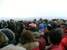 Mehrere hundert besucher hatten sich mittlerwile am neuen Aussichtspunkt eingefunden.