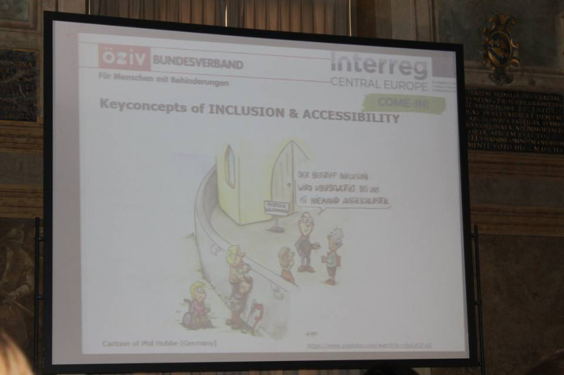"""erster Workshop zum Projekt """"COME-IN: Zusammenarbeit für offenen Zugang zu Museen durch breitere Inklusion""""."""
