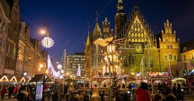 Der Weihnachtsmarkt in Wrocław (Breslau)