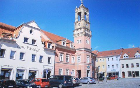 Marktplatz in Königsbrück (Sachsen)