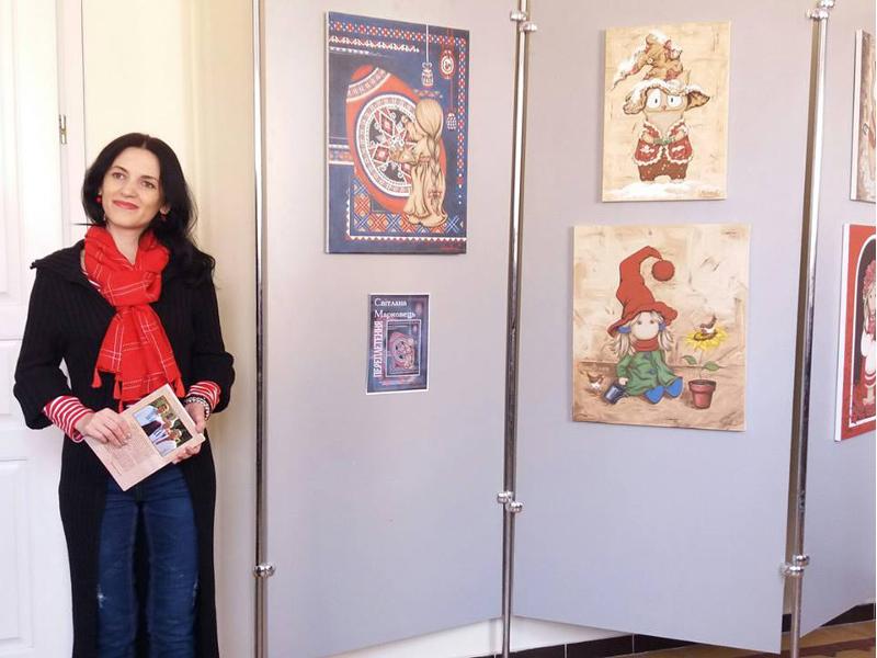 """Ausstellung """"Die Verflechtung"""" von Switlana Markovez"""