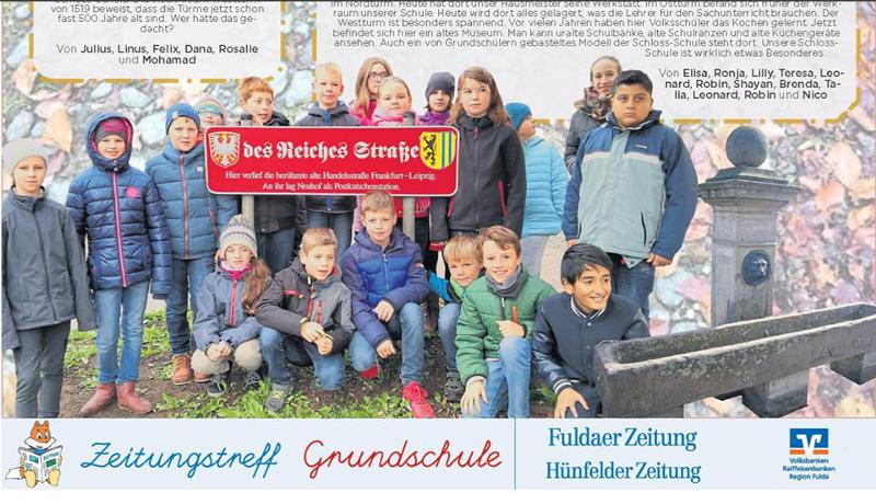 die Klasse 4b der Schloss-Schule Neuhof