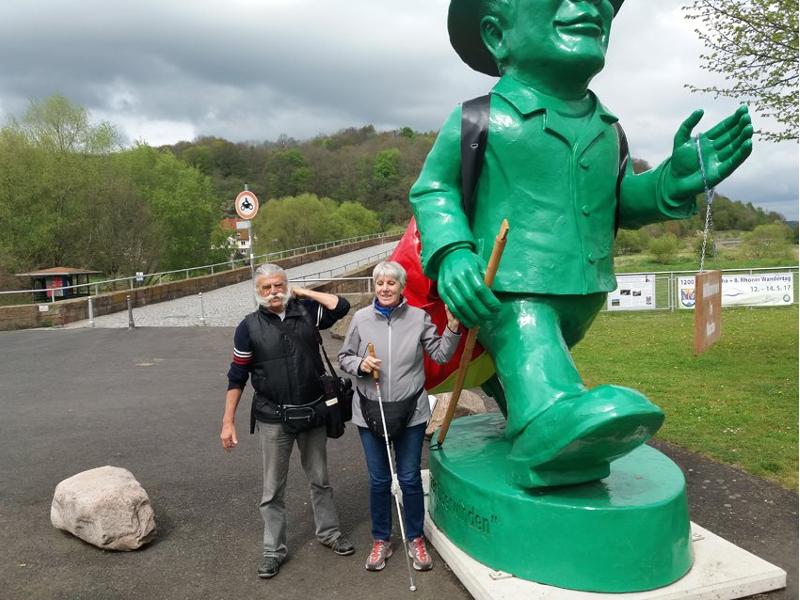 Werner und Karin sind in Vacha angekommen.