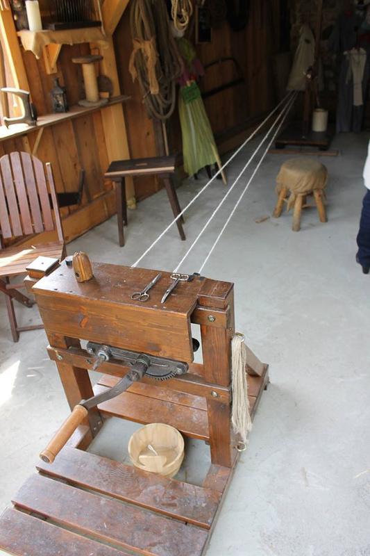 Die Maschine des Seilschlägers mit mehr als 150 Jahre alten Gewinden