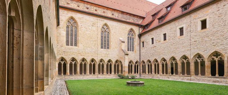 Kreuzgang im Erfurter Augustinerkloster. Hier lebte der Reformator Martin Luther als Mönch des Augustiner-Eremiten-Ordens.