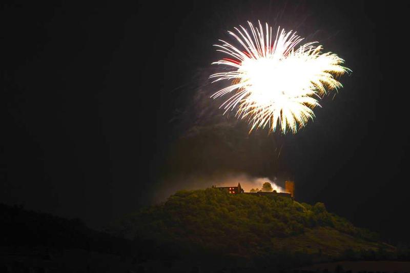 Eine pyrotechnische Inszenierung der legendären Gewitternacht
