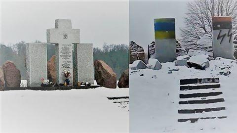 Denkmal für polnische Nazi-Opfer in der Ukraine gesprengt.
