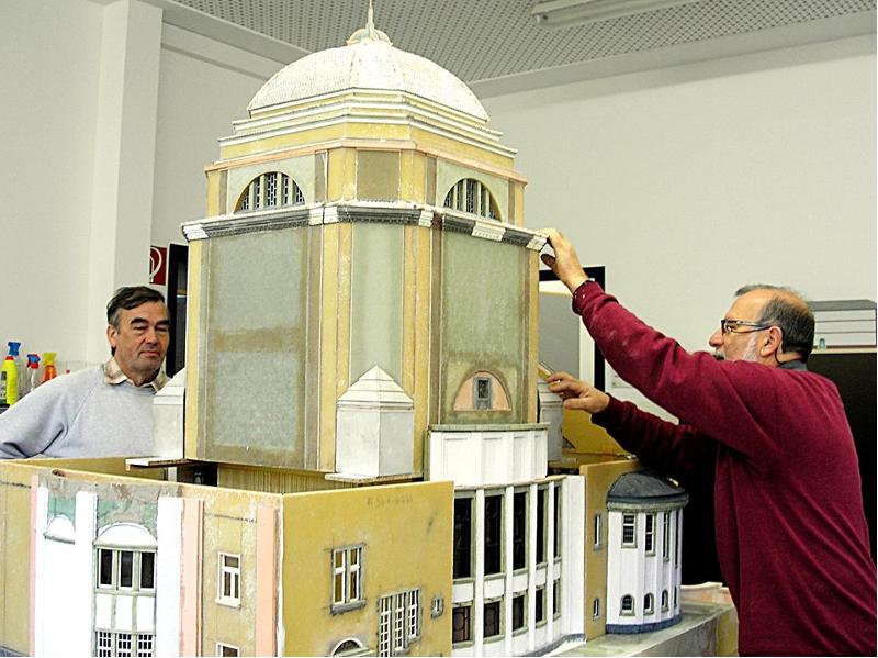 Modellausstellung in Grimmaer Georgenkapelle Künstlergut Prösitz holt Orte der Begegnung ins Muldental