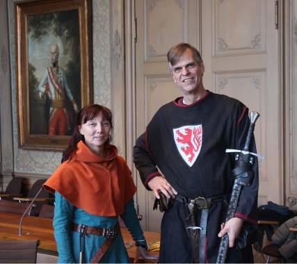 Susanne und Lothar Albrecht von der Limburger Ritterschaft