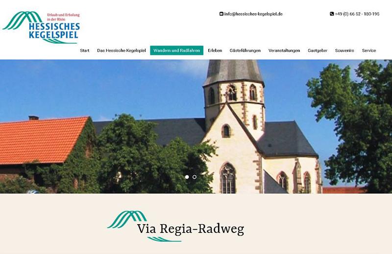 """VIA REGIA-Netzwerkmitglied """"Hessisches Kegelspiel"""" mit neuer Webseite."""