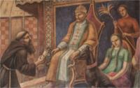 Gemälde: Giovanni del Pina Carpini zur Audienz beim Großkhan Göjük