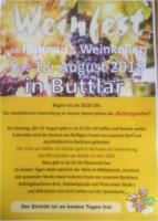 Flugblatt von Ruhnaus Weinkeller