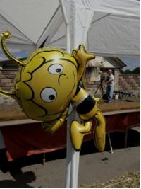 Biene Maja luftballon an Pavillon