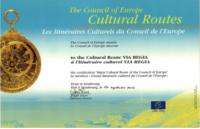 Urkunde des Kulturroutentitel