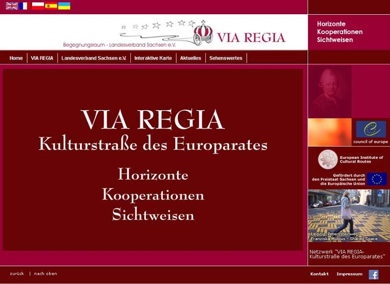 Screenshot von der Website