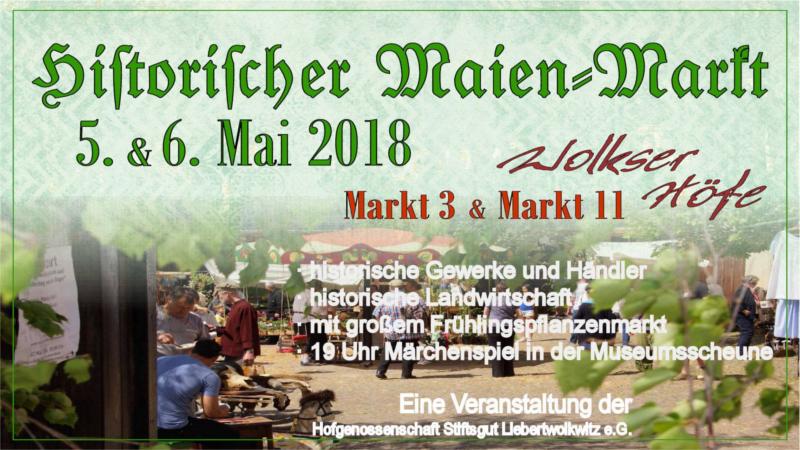 Flyer des 10. Historischer Maien-Markt