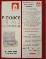 Flyer von Picknick in der Löherstraße